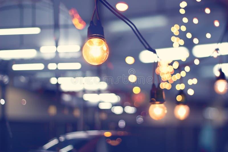 Festival d'événement de décoration de lumières et lumières de Noël extérieures photos libres de droits