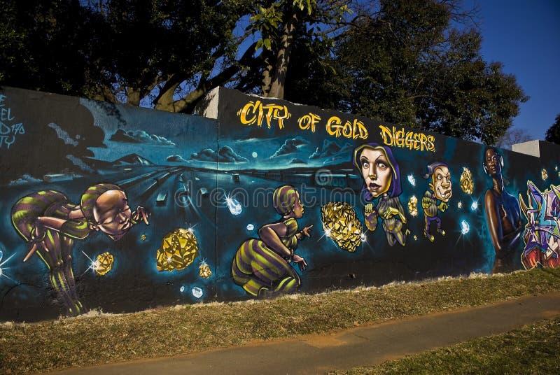 Festival d'art urbain - ville des bêcheurs d'or photo stock
