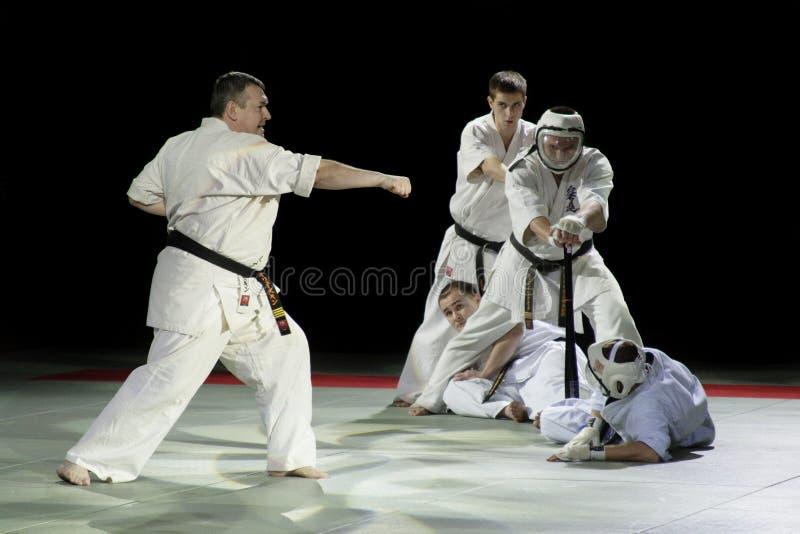 Festival d'arts martiaux en Russie photographie stock libre de droits