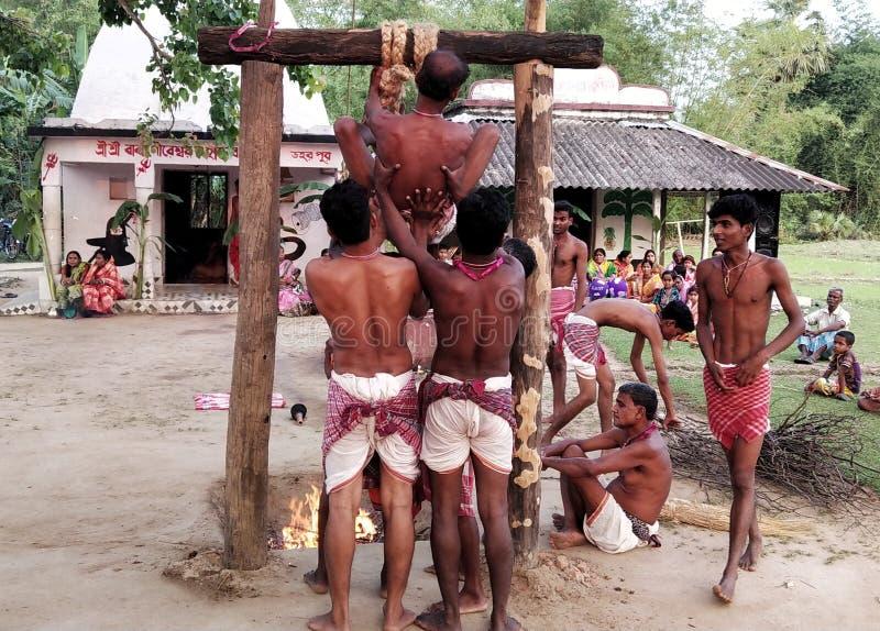 Festival d'Inde, le Bengale-Occidental, Daharpur, village, genre de saison de fête indienne de religion photo stock