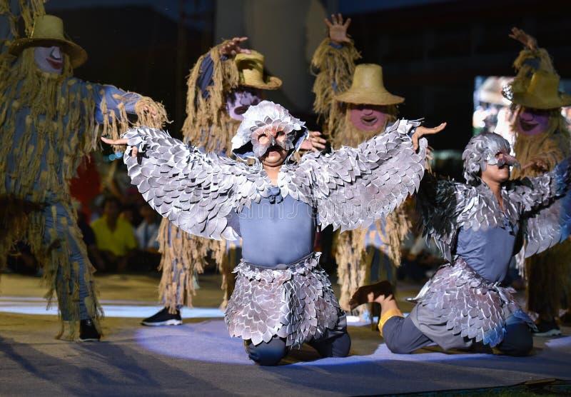 Festival d'international de masque d'exposition de danse du Cambodge photographie stock