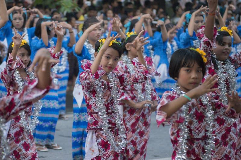 FESTIVAL DA ÁGUA DE ÁSIA MYANMAR MANDALAY THINGYAN foto de stock royalty free