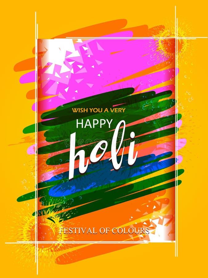 Festival da Índia do fundo feliz de Holi da cor ilustração stock