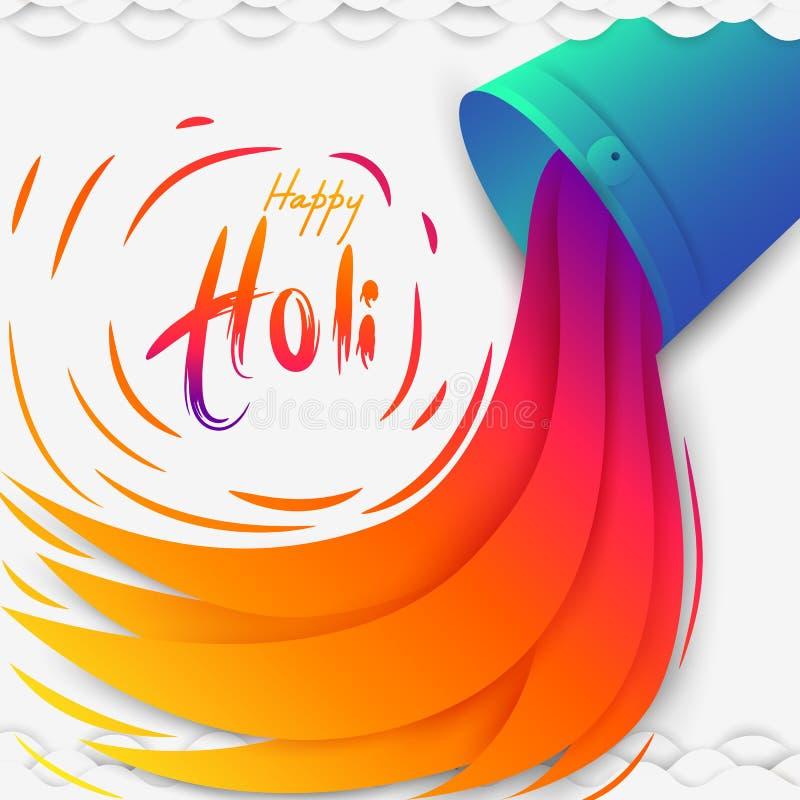 Festival da Índia do fundo feliz de Holi da cor ilustração royalty free