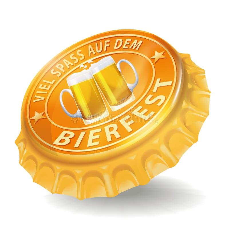 Festival da cerveja do tampão de garrafa ilustração royalty free