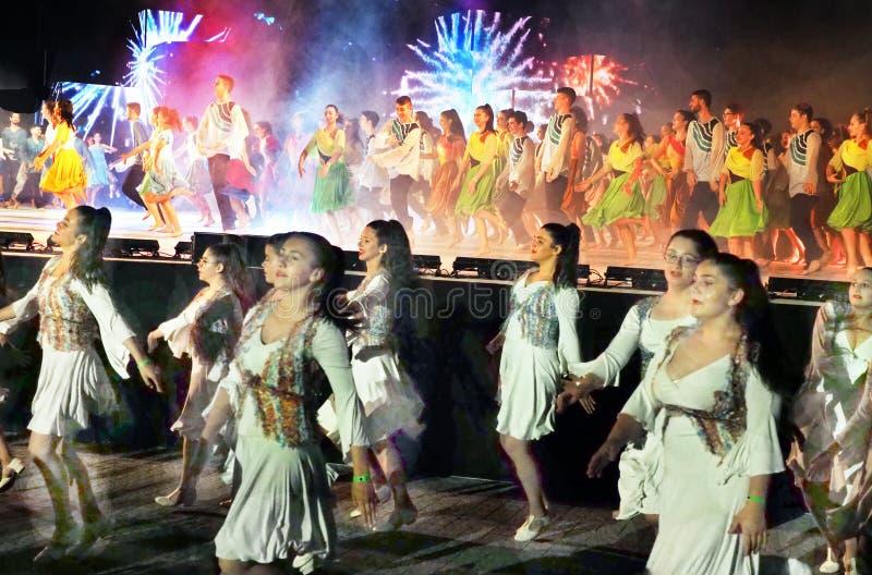 Festival 2019 da dança de Karmiel foto de stock