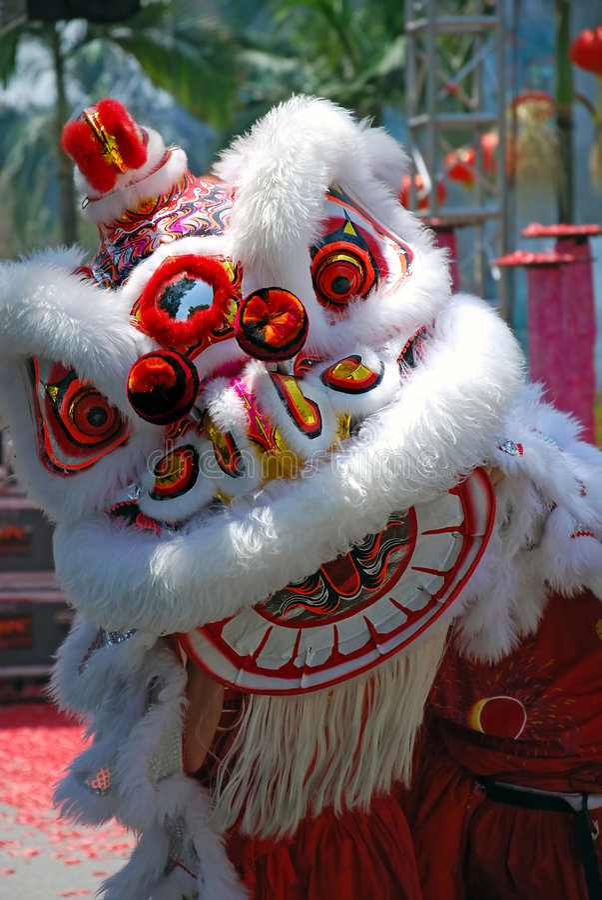 Festival da dança do leão fotos de stock