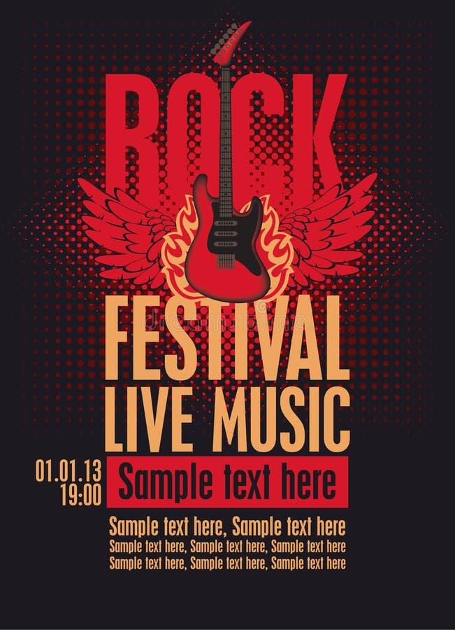 Festival da rocha do quadro de avisos ilustração stock