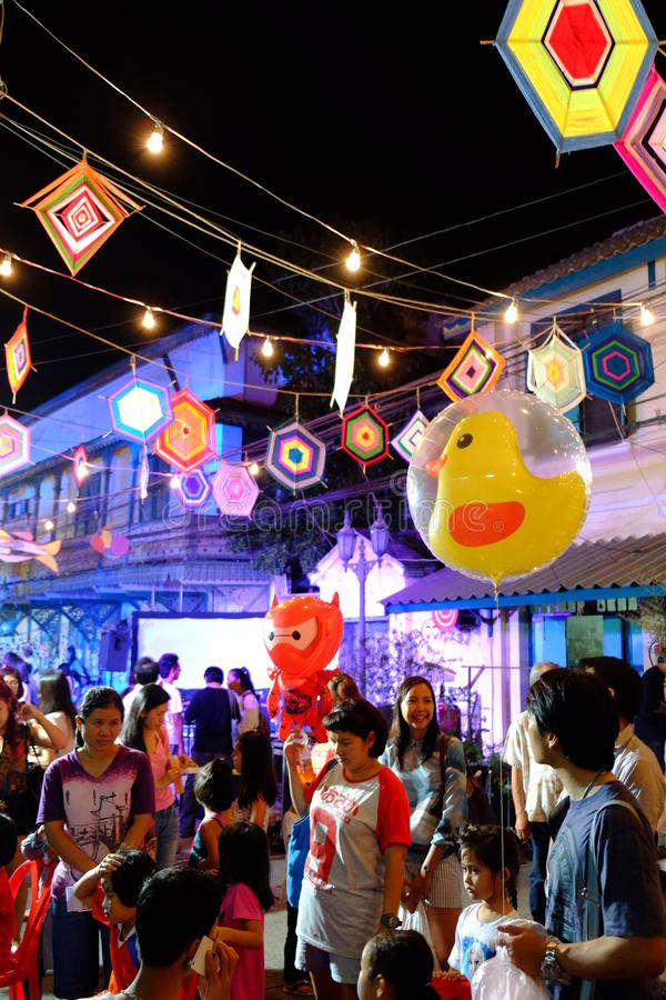 Festival da rua na noite foto de stock