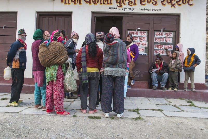 Festival dans le village de Marpha image libre de droits