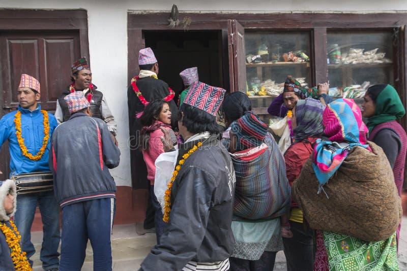 Festival dans le village de Marpha photo stock