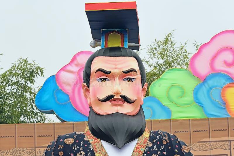 Festival das China-lanternas de Chengdu: Grupo da lâmpada do retrato imagem de stock royalty free
