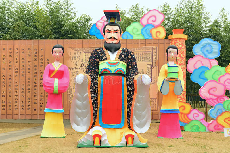 Festival das China-lanternas de Chengdu: Grupo da lâmpada do retrato fotografia de stock royalty free