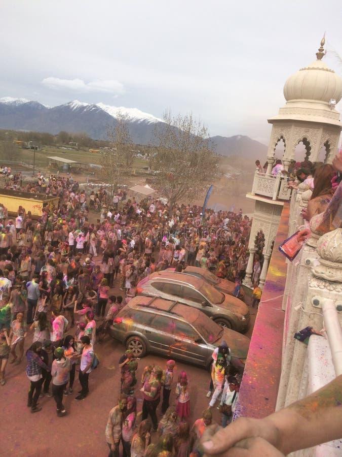 Festival das cores fotografia de stock