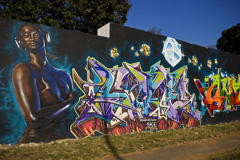 Festival de arte urbano - artista de la pintada, Ske imagen de archivo