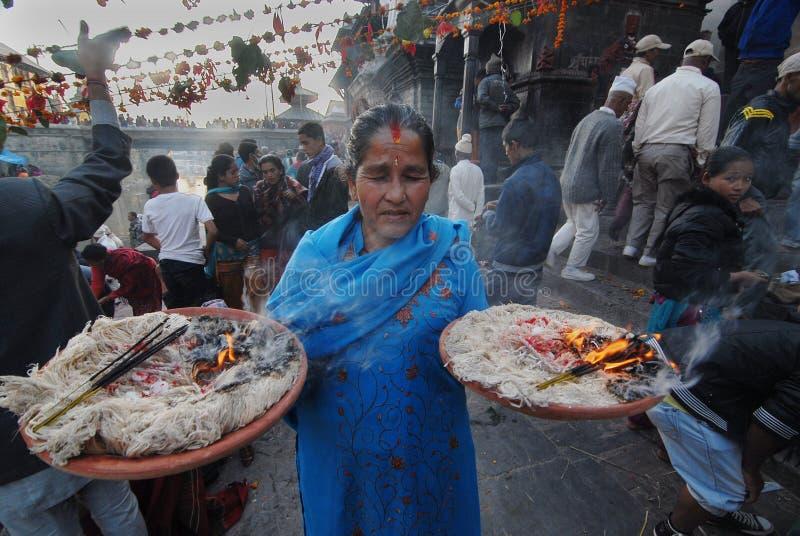 Festival de Bala Chaturdashi au Népal photo libre de droits