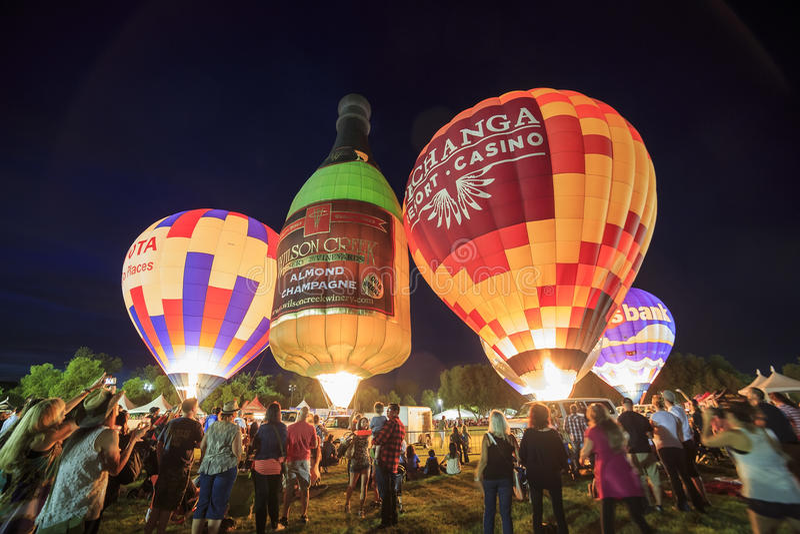 Festival de ballon d'air chaud de Temecula image libre de droits