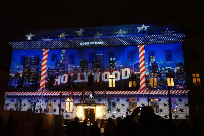 Festival de Berlín de luces foto de archivo