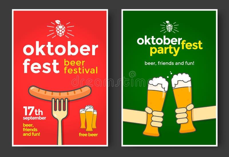 Festival de bière d'Oktoberfest Illustration de couleur illustration libre de droits