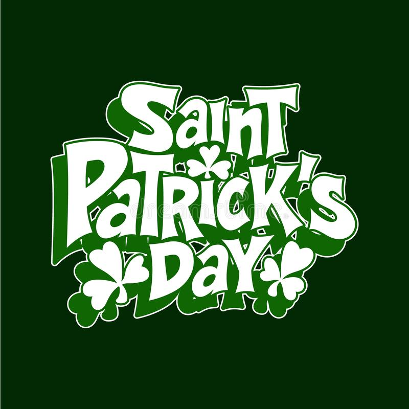 Festival de bière marquant avec des lettres l'icône de typographie pour le jour de StPatrick illustration stock