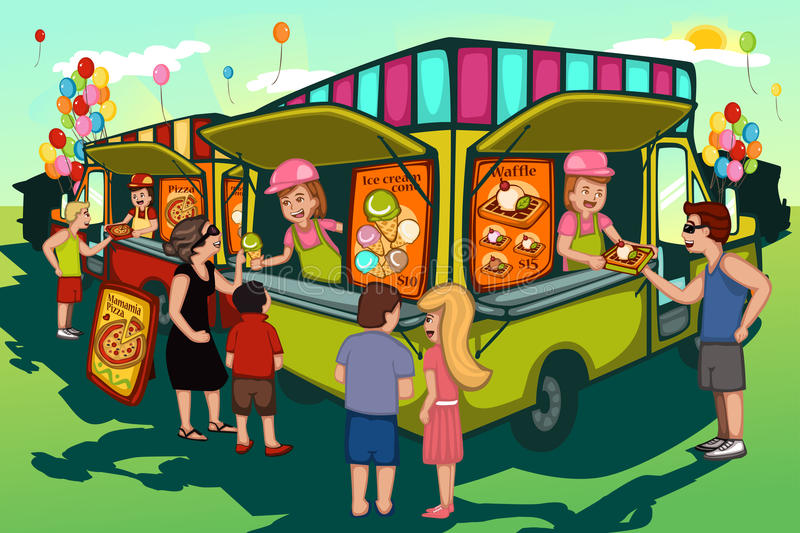 Festival de camion de nourriture illustration stock