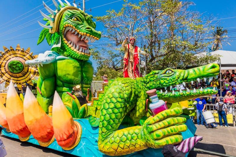Festival de carnaval de défilé de Barranquilla Atlantico Colombie images libres de droits