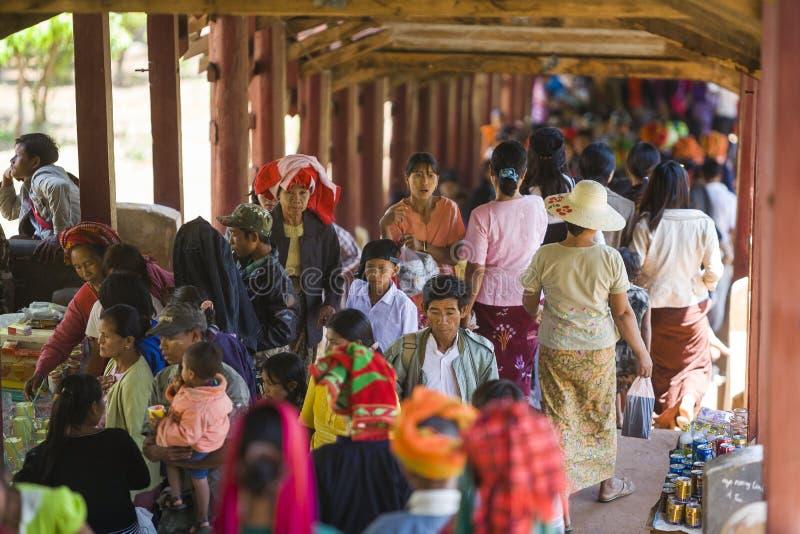 Festival de caverne de Myanmar - de Pindaya photographie stock
