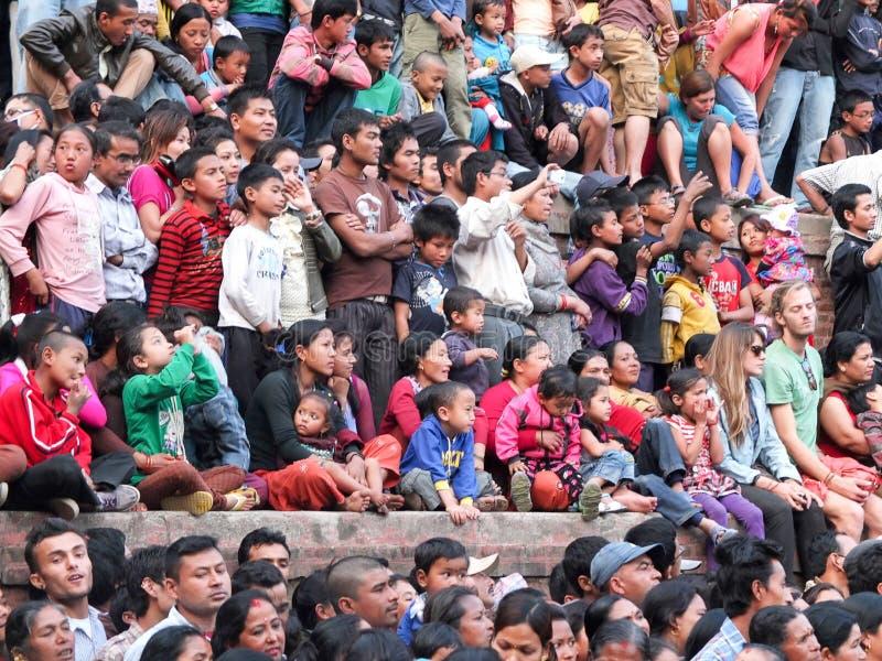 Festival de char, Népal images stock