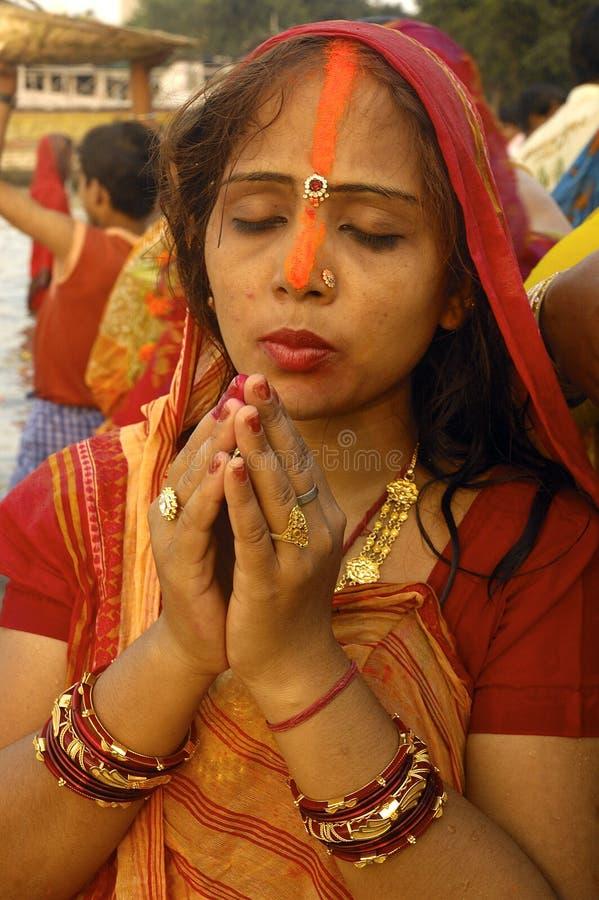 Festival de Chatt em India foto de stock