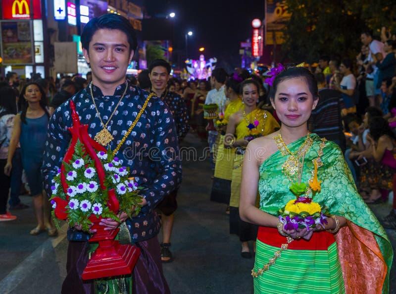 Festival de Chiang Mai Yee Peng foto de archivo