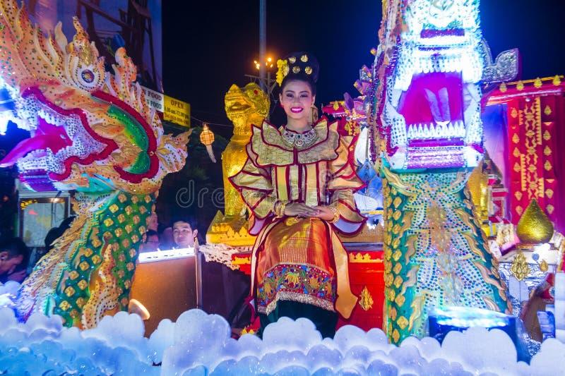 Festival de Chiang Mai Yee Peng fotos de archivo