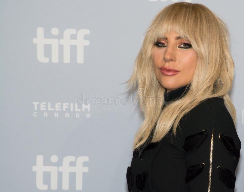 2017 festival de cine internacional de Toronto - señora Gaga del `: Cinco rueda de prensa del ` del pie dos imagenes de archivo