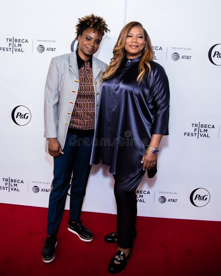 Festival de cine de Tribeca - alfombra roja antes de la premier de la colectividad de la reina fotografía de archivo