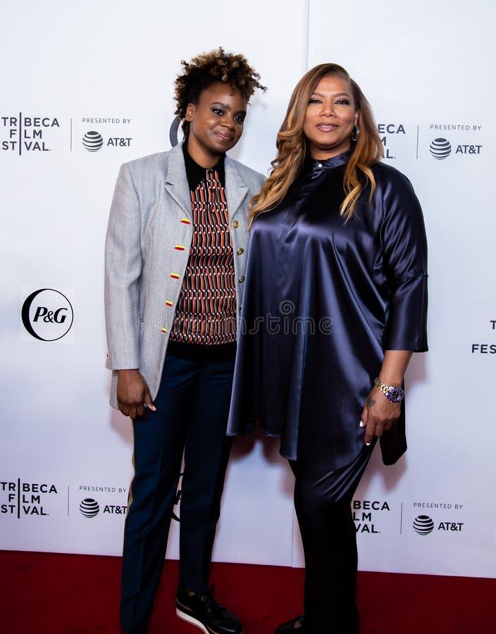 Festival de cine de Tribeca - alfombra roja antes de la premier de la colectividad de la reina imagen de archivo