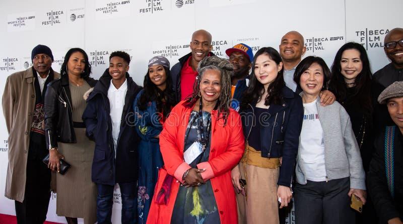 Festival de cine de Tribeca - alfombra roja antes de la premier del ?ni?o documental de Coney Island ? imagen de archivo libre de regalías