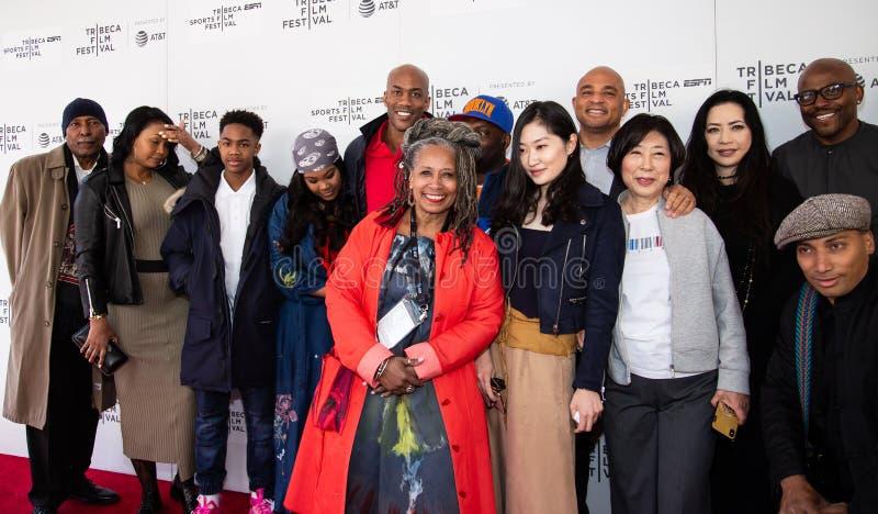 Festival de cine de Tribeca - alfombra roja antes de la premier del ?ni?o documental de Coney Island ? fotografía de archivo