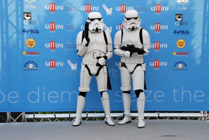 Festival de cinema 2015 de Giffoni do al dos Stormtroopers foto de stock