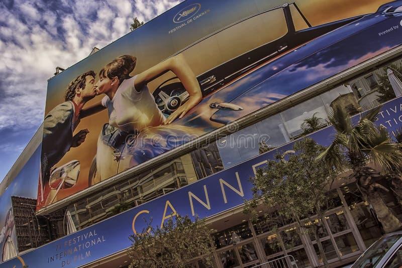 Festival de cinema em Cannes fotografia de stock royalty free