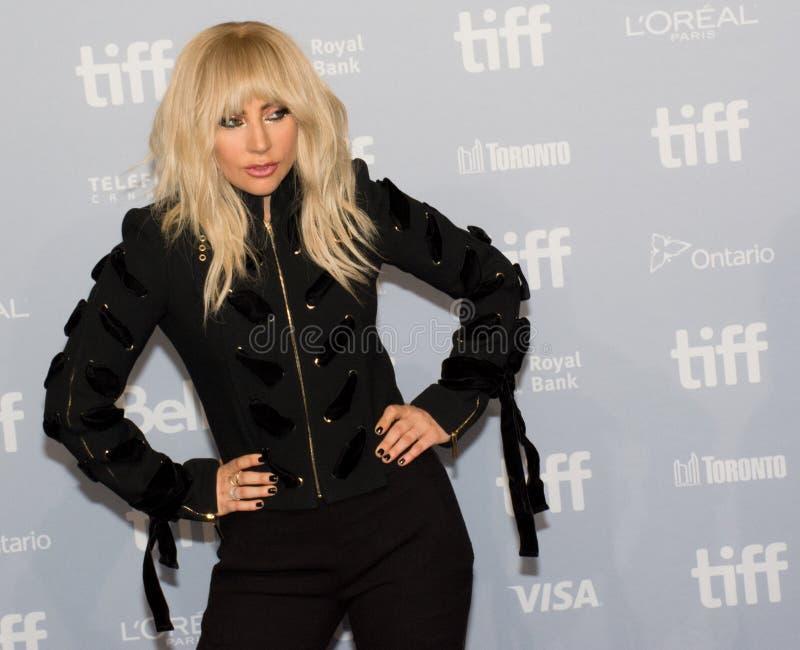 2017 festival de cinema internacional de Toronto - senhora Gaga do `: Cinco conferência de imprensa do ` do pé dois foto de stock royalty free