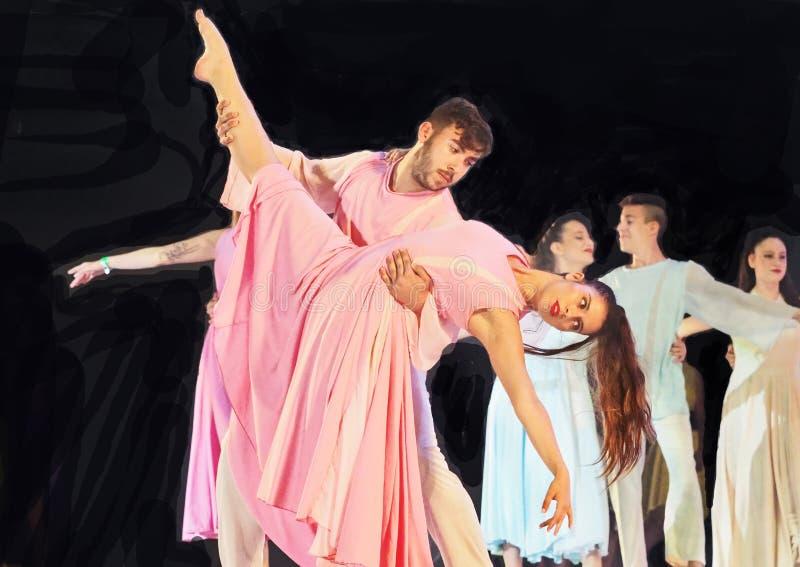 Festival 2019 de danse de Karmiel image libre de droits