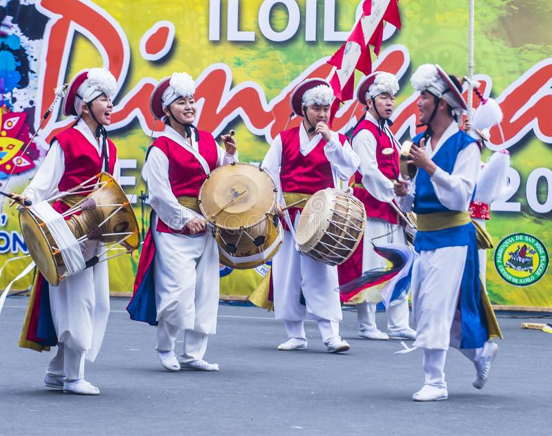 Festival 2018 de Dinagyang fotografia de stock