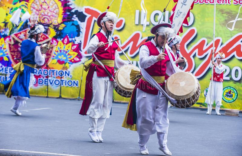 Festival 2018 de Dinagyang imagem de stock
