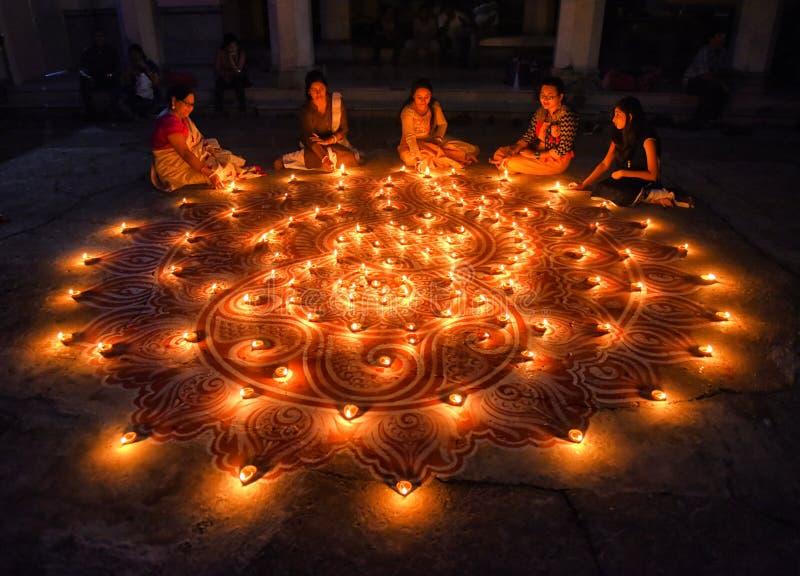Festival de Diwali en la India imágenes de archivo libres de regalías