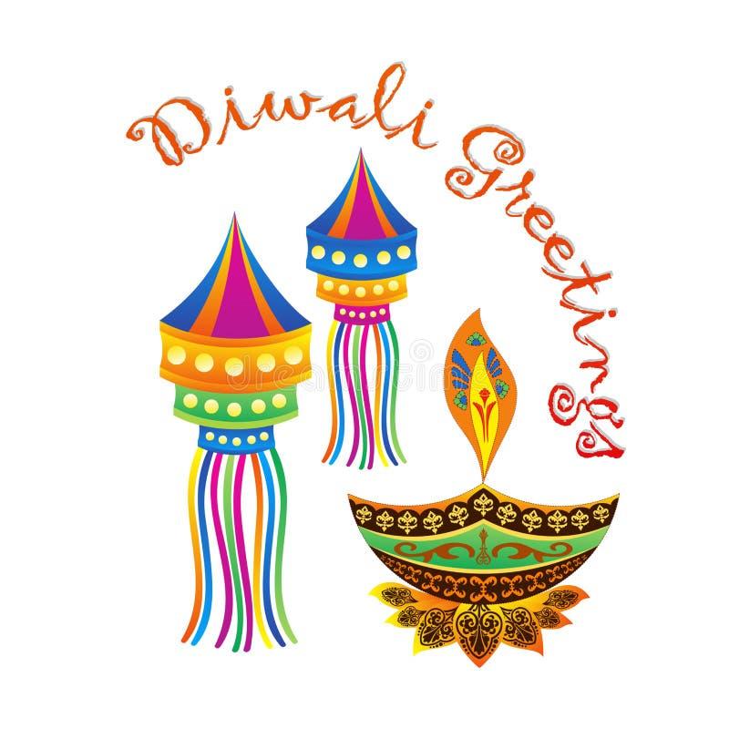Festival de Diya Diwali stock de ilustración