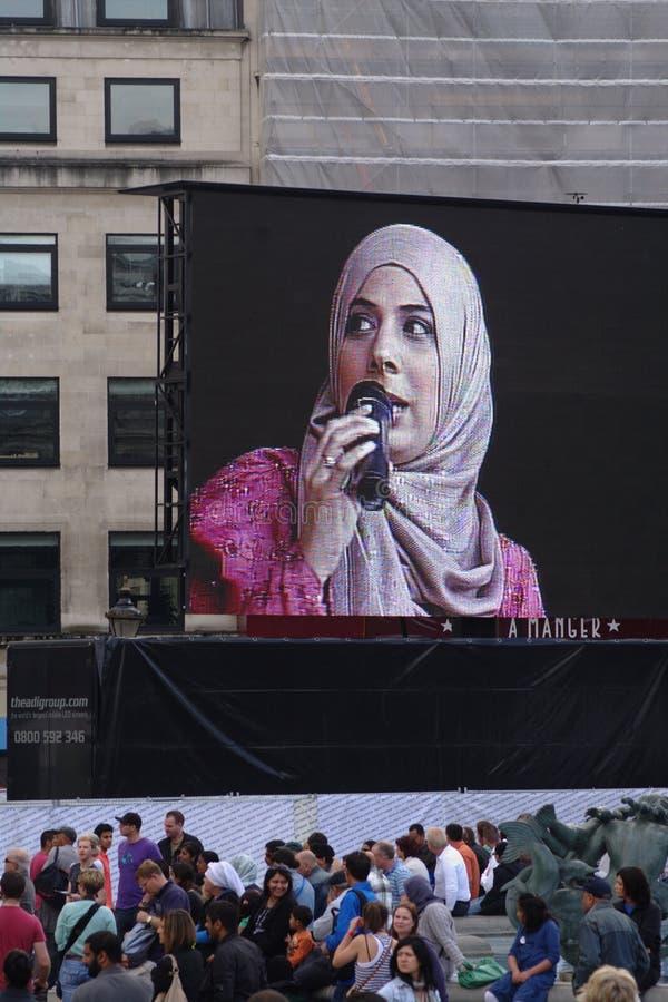 Festival de EID no quadrado 7 de Trafalgar fotos de stock