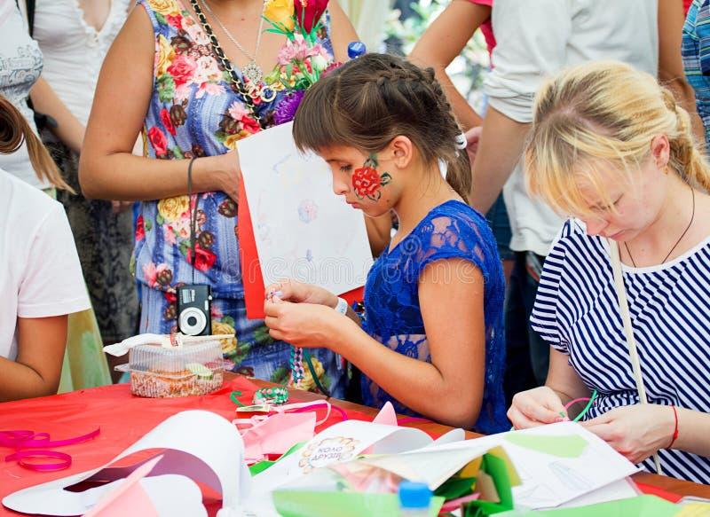 Festival de famille dans Zaporozhye, Ukraine images stock