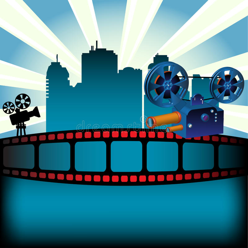 Festival de film illustration libre de droits