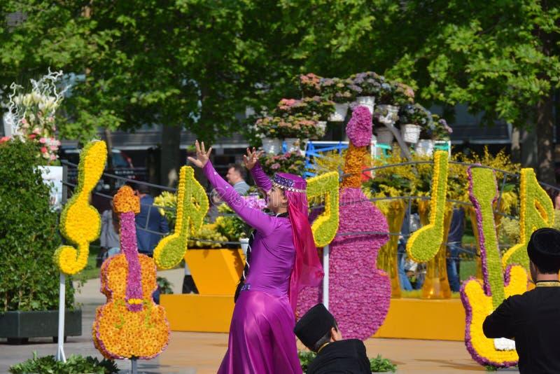 Festival de flores en la ciudad de Baku, Azerbaijan fotos de archivo