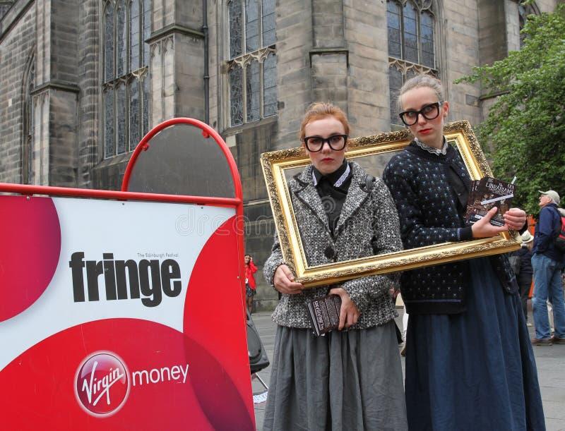 Festival 2013 de frange d'Edimbourg images stock