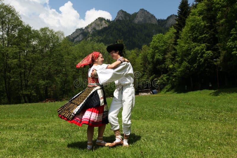 FESTIVAL DE GENS DE L'EUROPE SLOVAQUIE CERVENY KLASTOR photos libres de droits